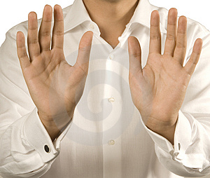 Open Men's Hands Stock Photos - Image: 5115423