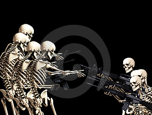 Many War Skeletons 5 Royalty Free Stock Photography - Image: 5115957