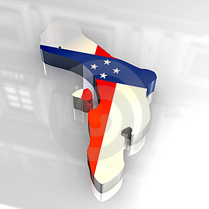 3d Flag Map Of Bonaire Netherlands Antilles Royalty Free Stock Photo - Image: 5117465
