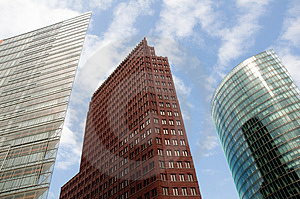 Wide-angle Shot Of Skyscrapers Stock Photography - Image: 5120292
