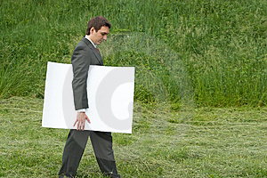 Walking With Sheet Of Paper Stock Photography - Image: 5120962