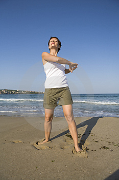 Gymnastics On The Beach Stock Photography - Image: 5122362