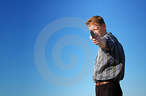 Young Gunman Stock Image - Image: 5126671