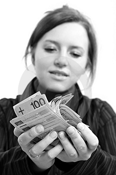 Giving Money Royalty Free Stock Photography - Image: 5128777