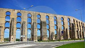 Aqueduct  In Old City Of Elvas. Stock Image - Image: 5130961