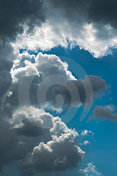 Dramatic sky just after the storm Royalty Free Stock Image
