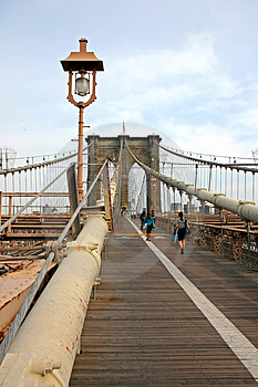 The Famous Brooklyn Bridge Royalty Free Stock Photography - Image: 5140997