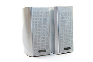 Two Speakers On White Stock Photo - Image: 5142950