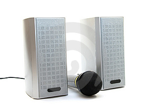 Speaker And Microphone Royalty Free Stock Image - Image: 5142956