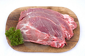 Raw pork meat with dill Royalty Free Stock Photos