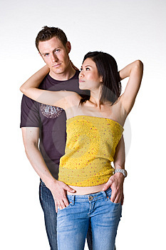 Casual Romantic Couple Royalty Free Stock Photography - Image: 5145577