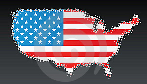 USA Modern Halftone Map Design Element Stock Photo - Image: 5149170