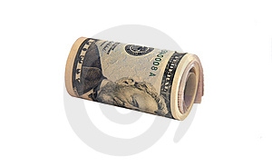 Cylinder Pack Of 50 Dollars Banknotes Stock Image - Image: 5149821