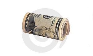 Cylinder Pack Of 50 Dollars Banknotes Stock Image - Image: 5149821