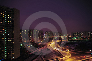 Night City. Krilatskoe, Moscow Stock Photos