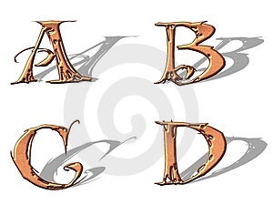 Capital Letters Copper 1 Royalty Free Stock Photos - Image: 5153108
