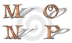 Capital Letters Copper 4 Royalty Free Stock Images - Image: 5153199