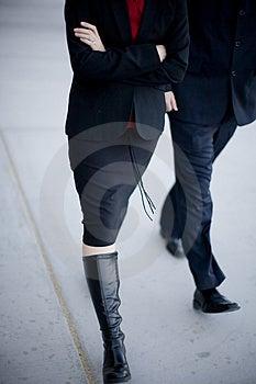 Gente di affari di camminata Fotografia Stock