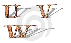 Capital Letters Copper 6 Royalty Free Stock Photo - Image: 5153405