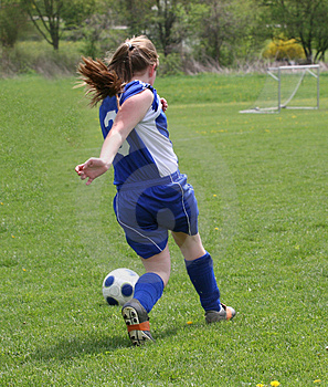 Teen Youth Soccer Action 2 Stock Photography