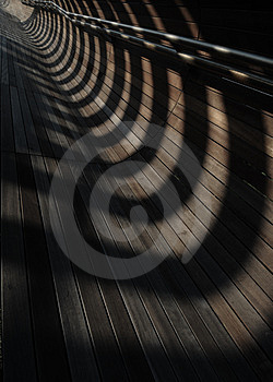 Converging Lines And Shadows Royalty Free Stock Image - Image: 5157136