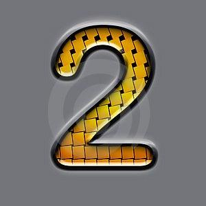 Orange 3d Number Stock Image - Image: 5157331