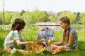 Enjoying our picnic Royalty Free Stock Image