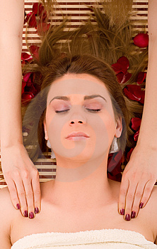 Beauty spa treatment Stock Images