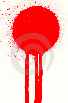 Red Sprayed Paint Stain Royalty Free Stock Photo - Image: 5169595