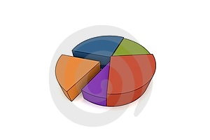 3d Statistics Royalty Free Stock Photography - Image: 5171107