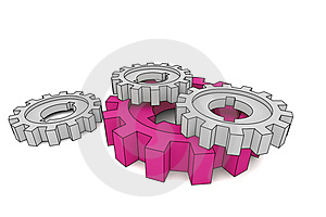 Isolated Cogwheels Royalty Free Stock Photos - Image: 5171168