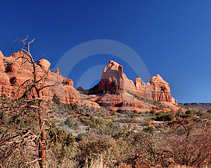 Cliff Faces Off Of Schnebly Hill Road Royalty Free Stock Photos - Image: 5174898