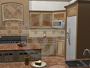 Contemporary Kitchen Stock Photo - Image: 5179510