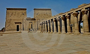 Philae Temple Colums Stock Photography - Image: 5182432