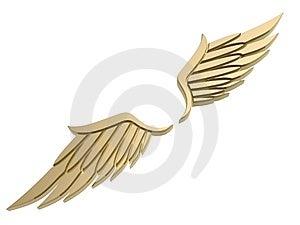 Vleugelsymbool Royalty-vrije Stock Fotografie - Afbeelding: 5183967
