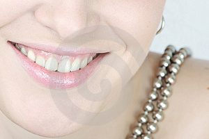 Close up of a smiling woman Royalty Free Stock Image