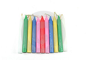 Color Candles. Stock Photo - Image: 5192980