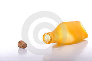 Colorful Bottles On White Stock Photo - Image: 5196660