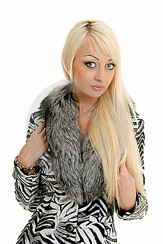 Blonde In Furs Royalty Free Stock Images - Image: 5197619