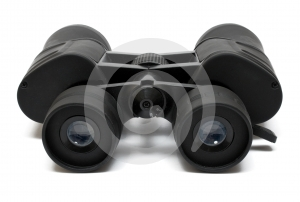 Binoculars Front - Side View w/ Path Stock Photos
