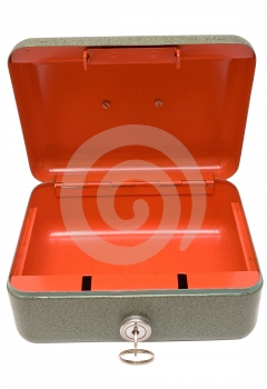 Empty Cash Box w/ Path (Top Front View) Free Stock Photos