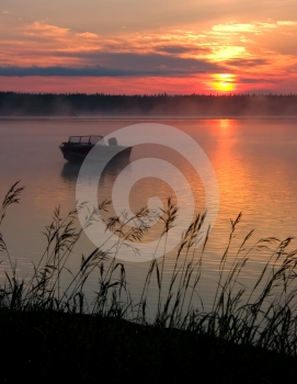 Misty Sunrise Stock Photography