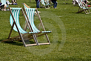 Vacant Deck Chairs Stock Photography - Image: 5200352