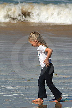 Alone At The Beach Royalty Free Stock Photos - Image: 5202048