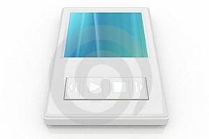 White Music Player Royalty Free Stock Images - Image: 5206449