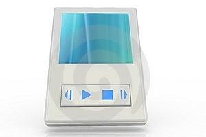 White Music Player 3 Stock Image - Image: 5206541