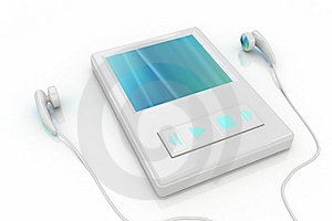 White Music Player 4 Royalty Free Stock Photos - Image: 5207278