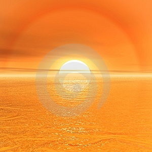 Sun and sky Stock Photography