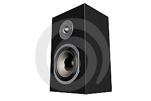 Simple Black Loudspeaker Royalty Free Stock Image - Image: 5209546