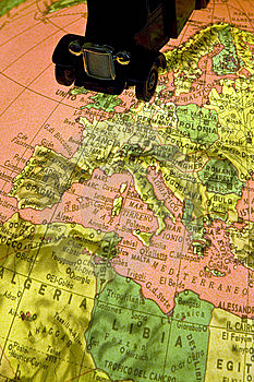 Map Terrain Royalty Free Stock Photography - Image: 5209597